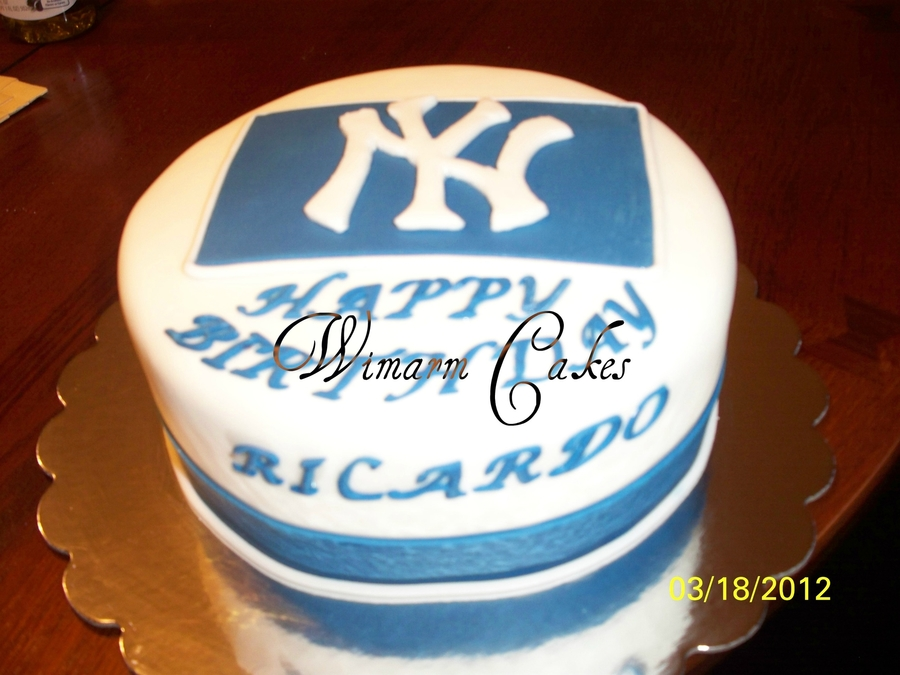 Ny Yankees Birthday Cake on Cake Central