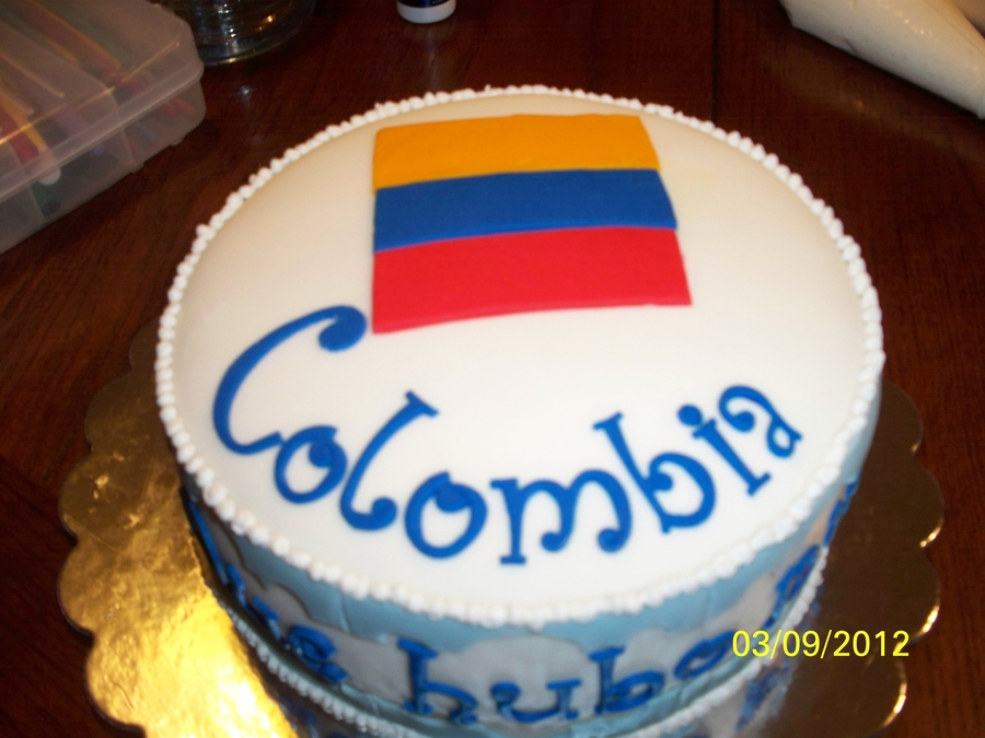 Colombian Flag Cake on Cake Central