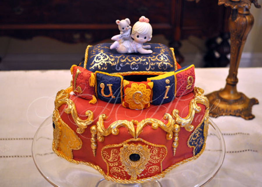 moroccan baby shower cake