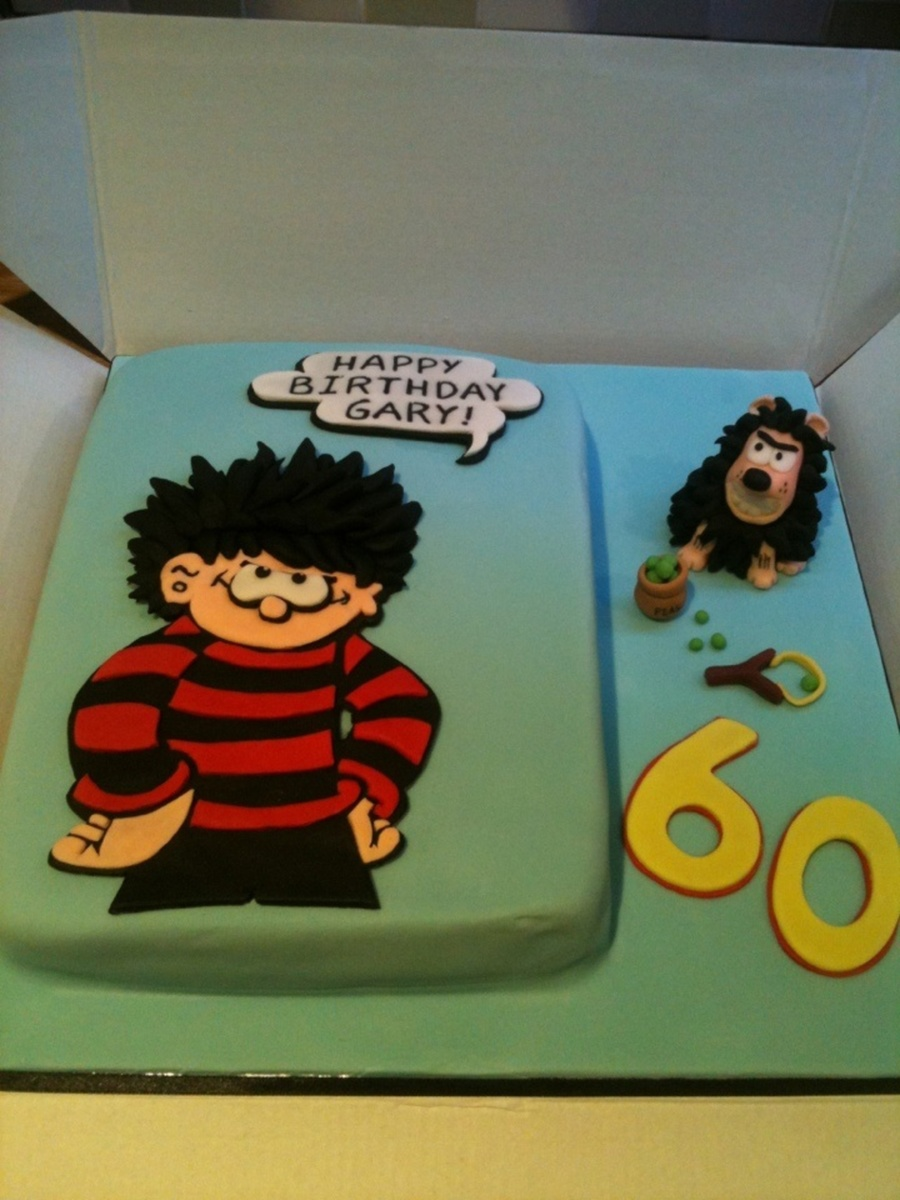 eating wedding cake before anniversary dennis the menace birthday cake with gnasher and pea 13874
