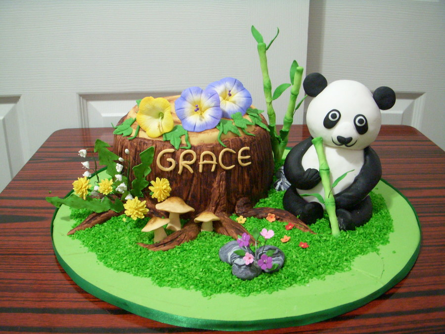 Gonna Love Panda Rice Crispy Made For Panda And 8 Cake Tree Stump on Cake Central