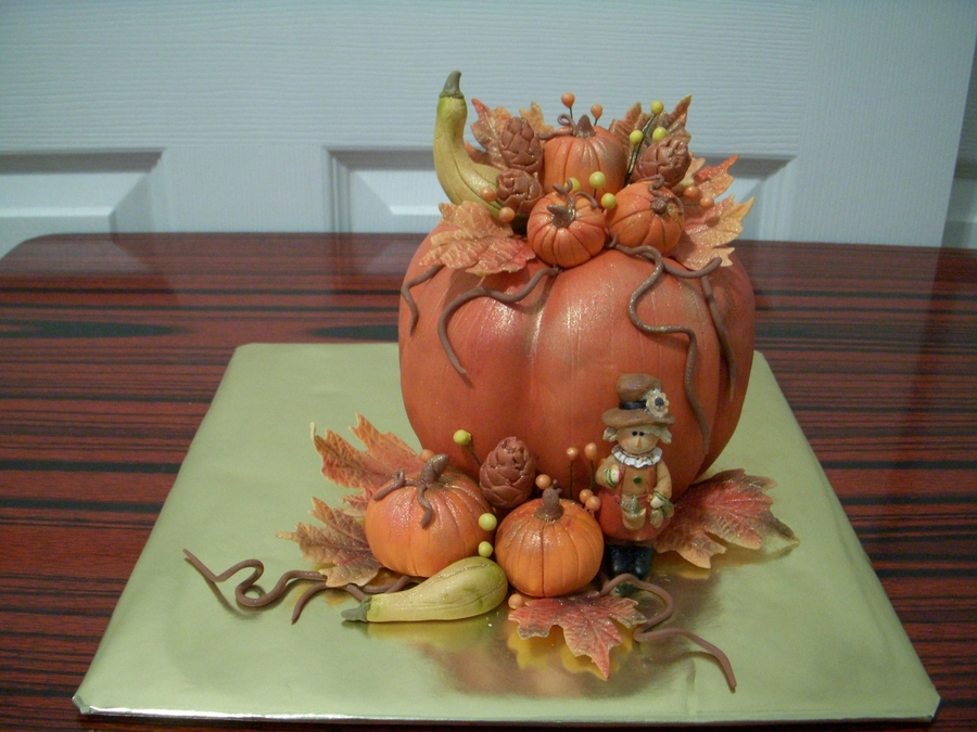 Pumpkin Arrangement on Cake Central