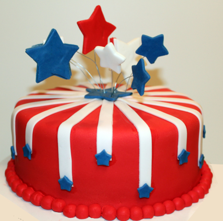 July 4Th Fireworks Cake on Cake Central