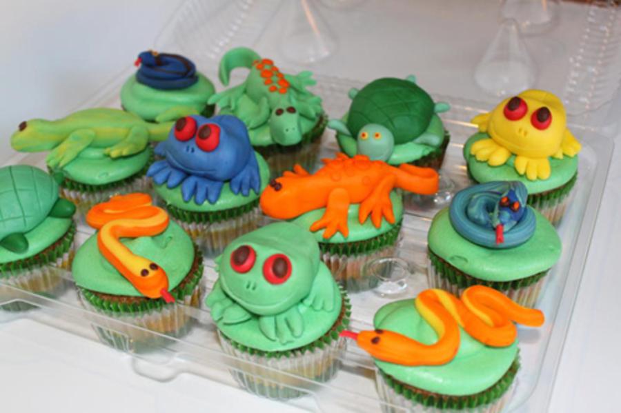 Birthday Lizard Cup Cakes