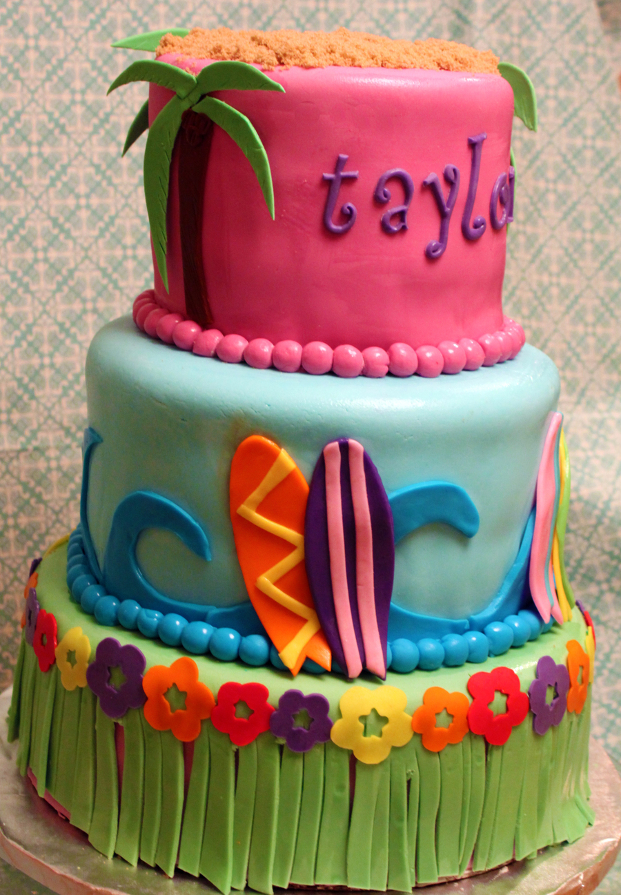 Luau Childrens Birthday Cake Cakecentral Com