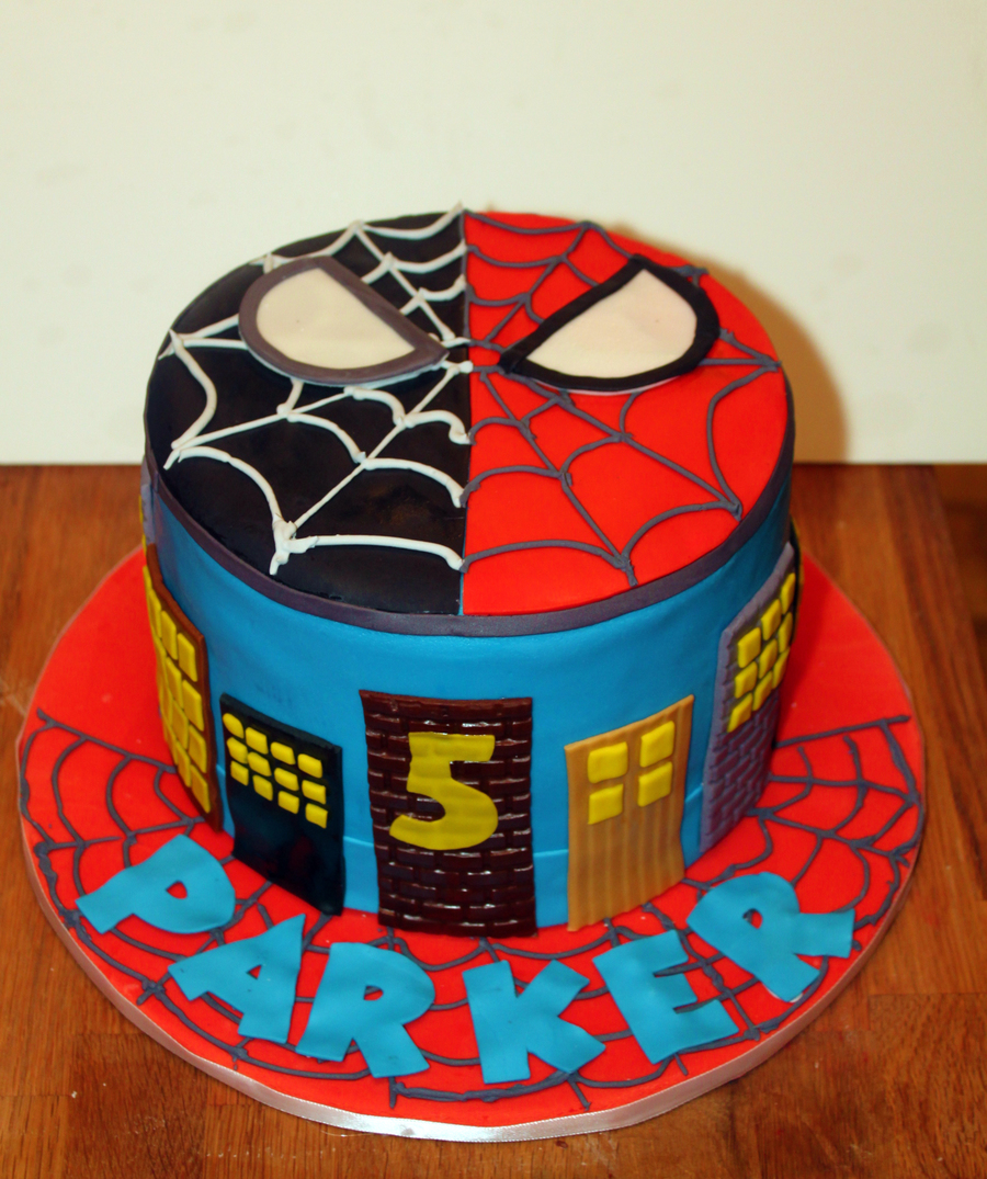 Spiderman Vs Venom Birthday Cake Cakecentral Com