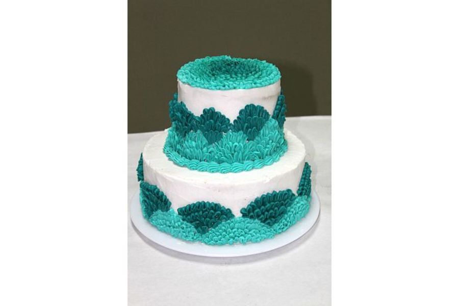 Ruffle Buttercream Wedding Cake on Cake Central