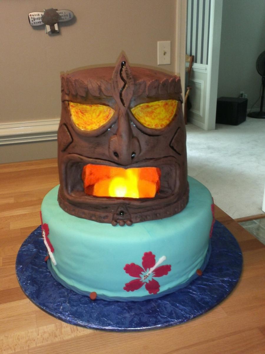 Fine Tiki Birthday Cake Cakecentral Com Funny Birthday Cards Online Elaedamsfinfo