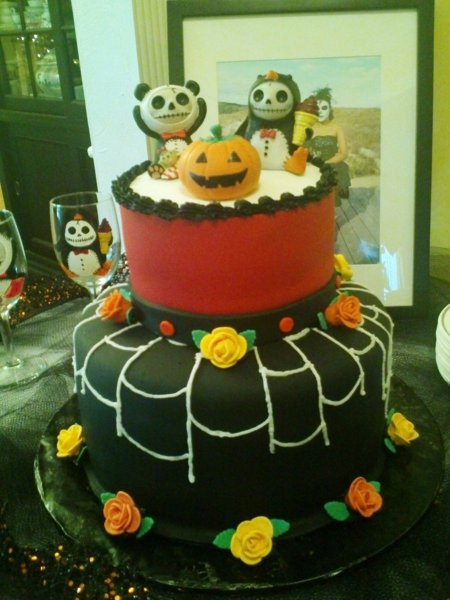 Halloween Wedding Cake on Cake Central
