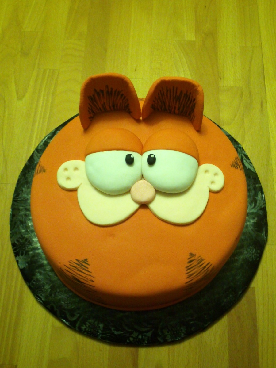 Garfield Birthday Cake on Cake Central