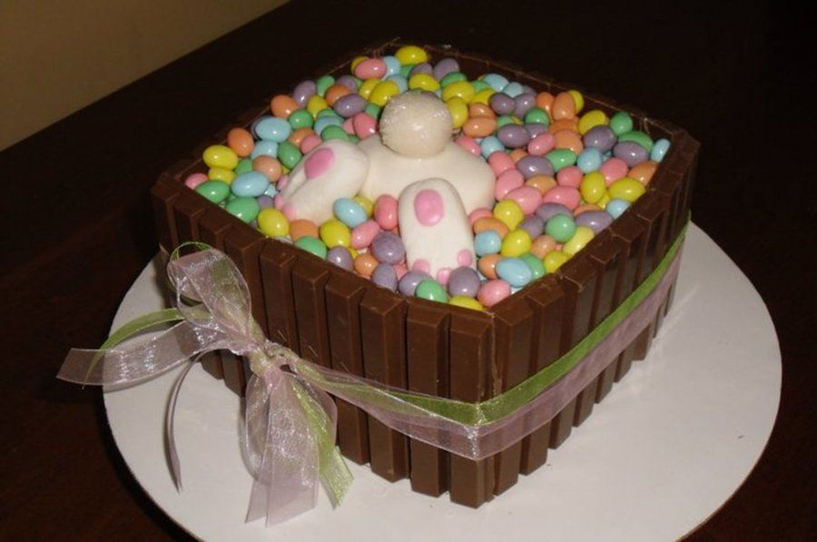 Bunny In A Candy Basket on Cake Central