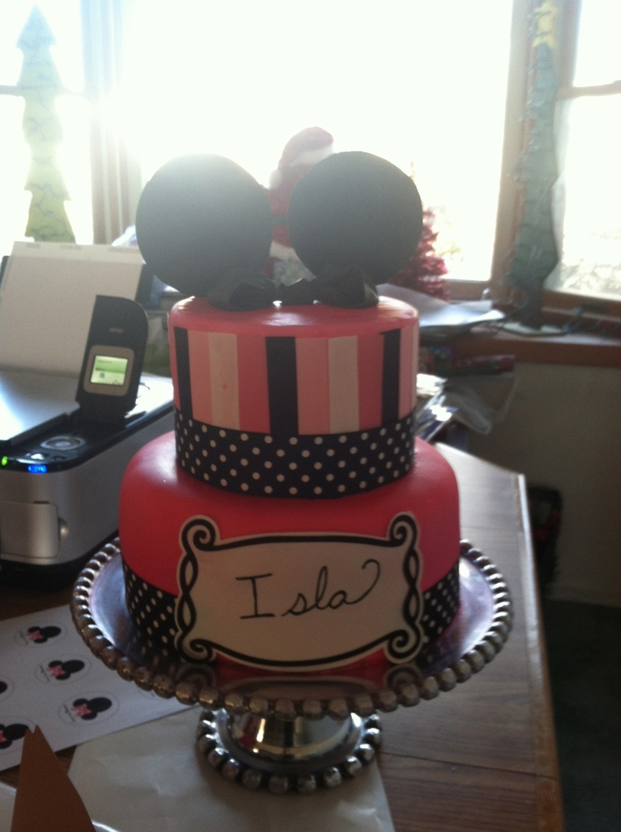 2Nd Birthday Minnie Cake on Cake Central