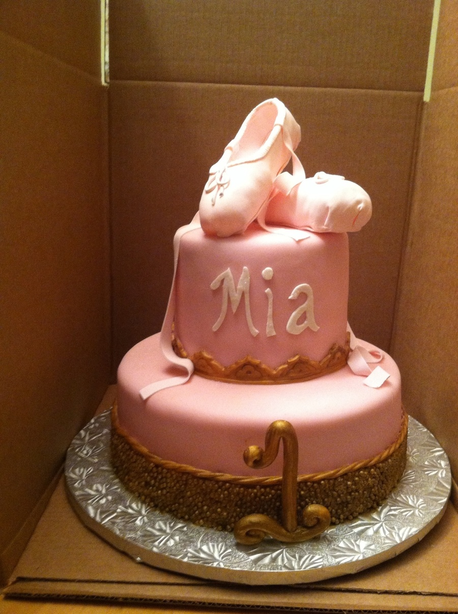 Indian Ballerina Inspiration First Birthday Cake  on Cake Central