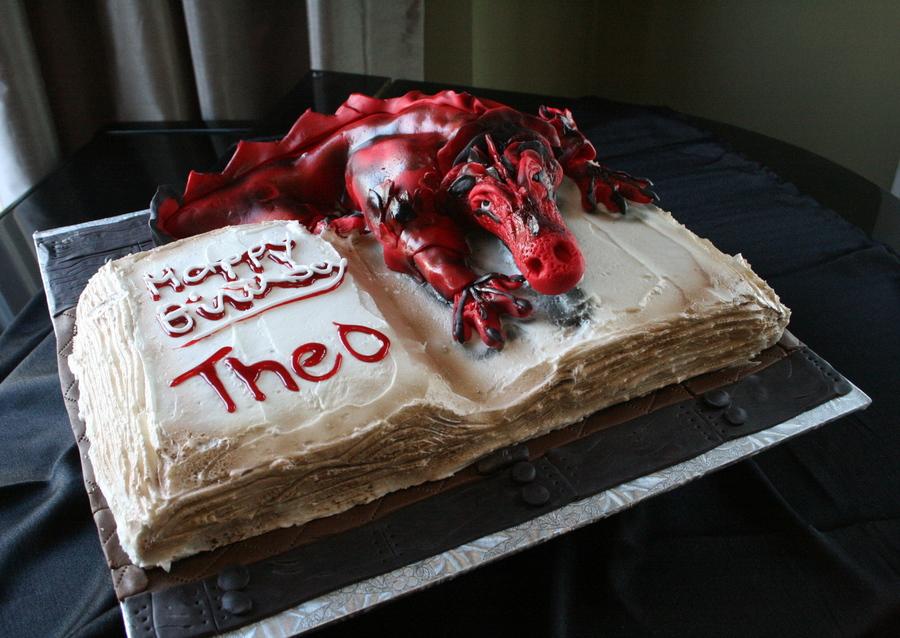 Sensational Dragon Cake Cakecentral Com Funny Birthday Cards Online Fluifree Goldxyz