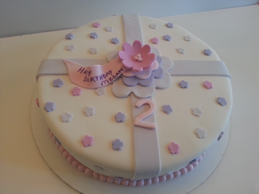 Present Cake For A 2 Year Old Girl - CakeCentral.com