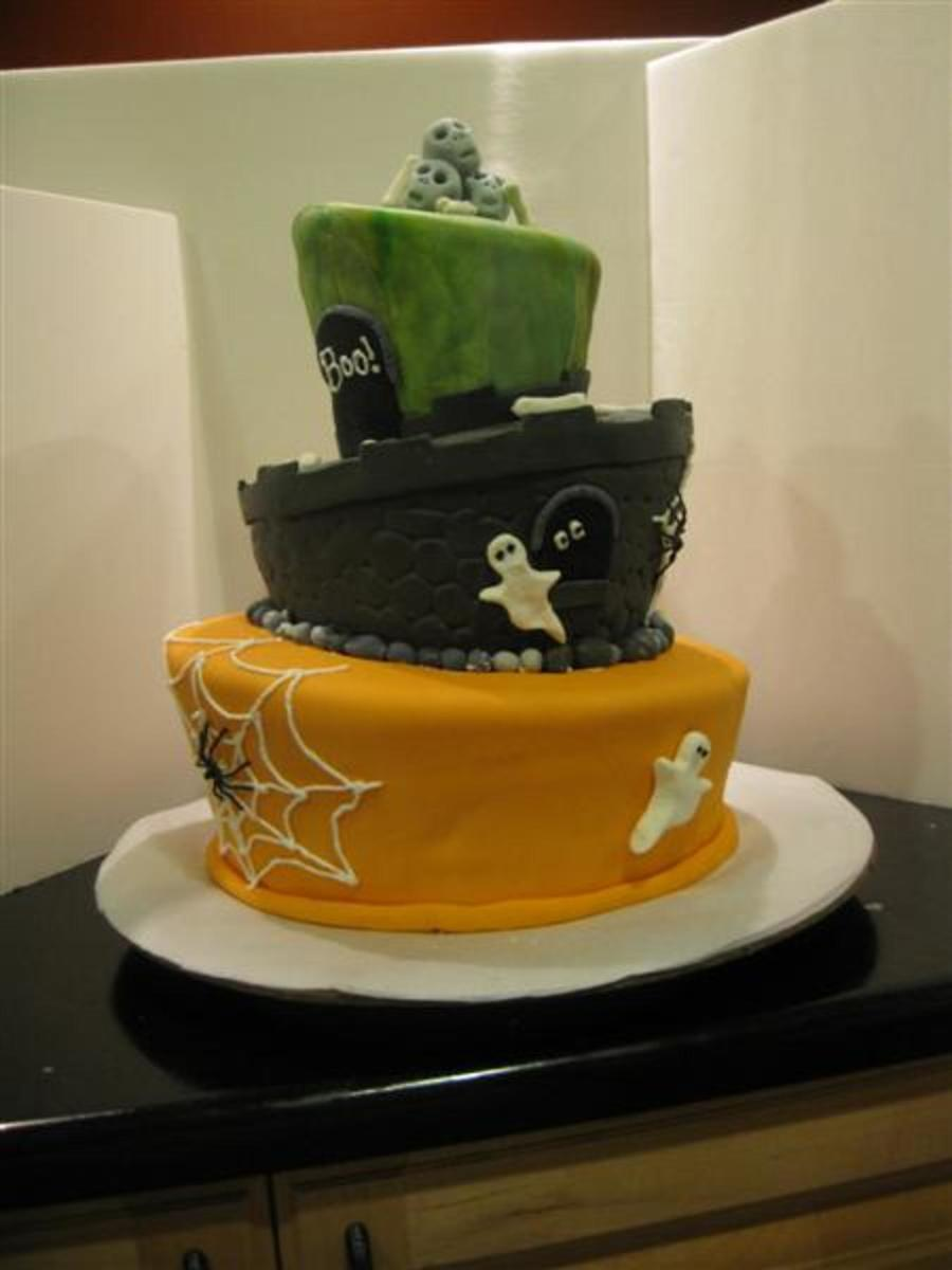 Topsy Turvy Halloween on Cake Central
