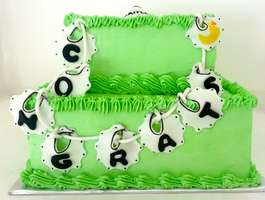 Clothesline Bib Cake on Cake Central