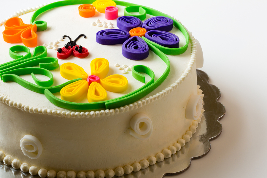Quilled Cake on Cake Central