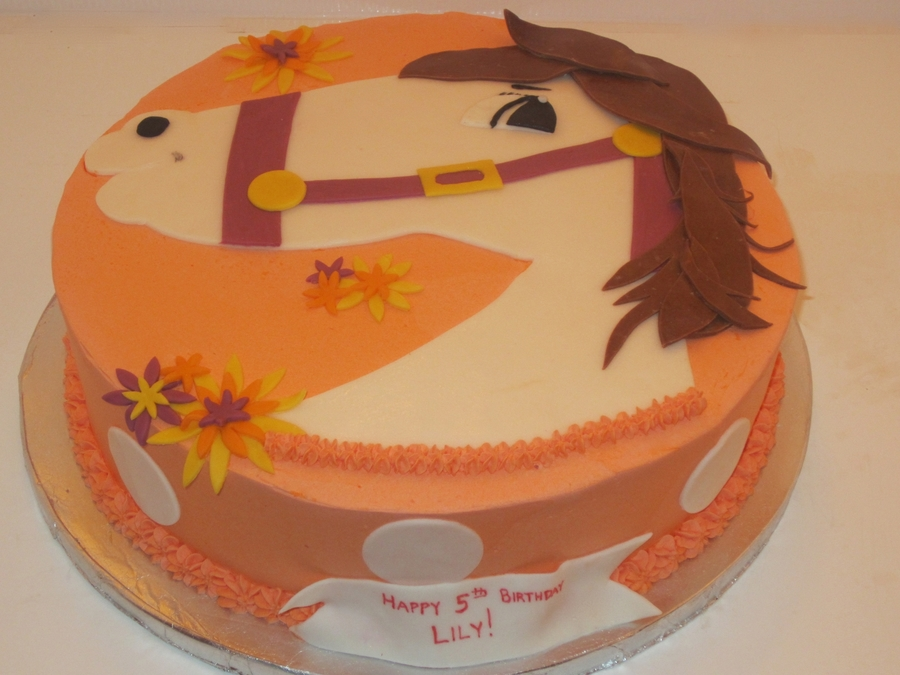Fall-Themed Horse Cake on Cake Central