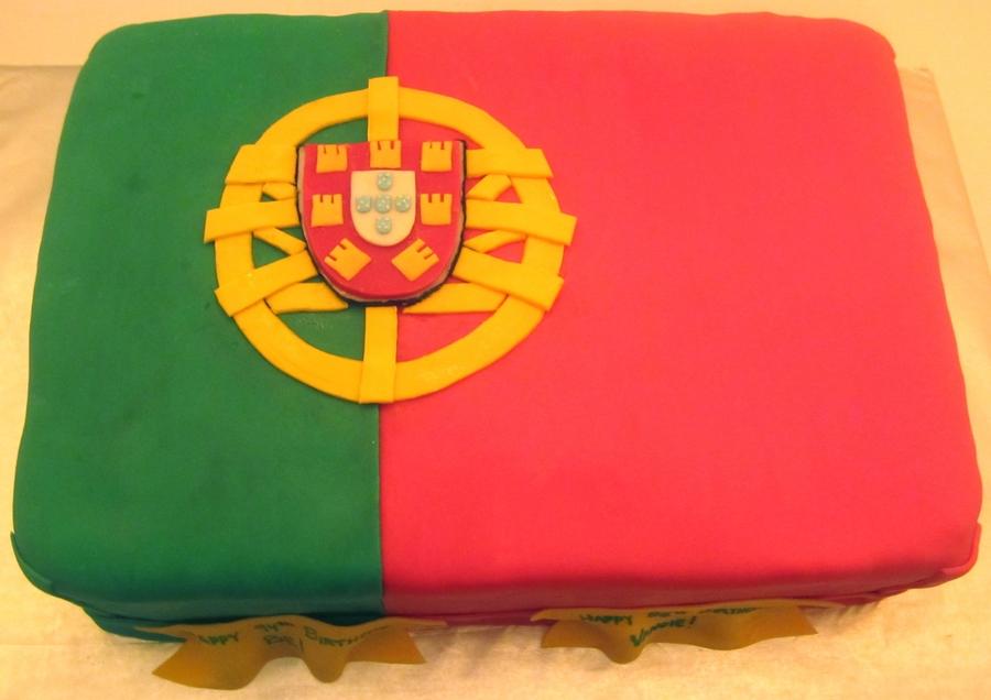 Portuguese flag cake for American flag cake decoration