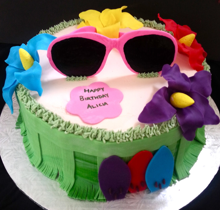 Tropical Sunglasses on Cake Central