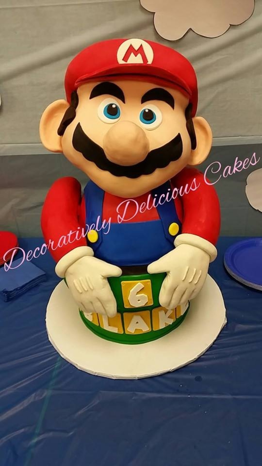 Surprising Its Me Mario My Boys 6Th Birthday Cake Cakecentral Com Funny Birthday Cards Online Barepcheapnameinfo