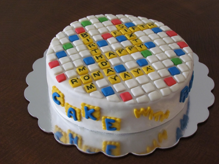 Words With Friends Birthday Cake CakeCentralcom - Words on cake for birthday