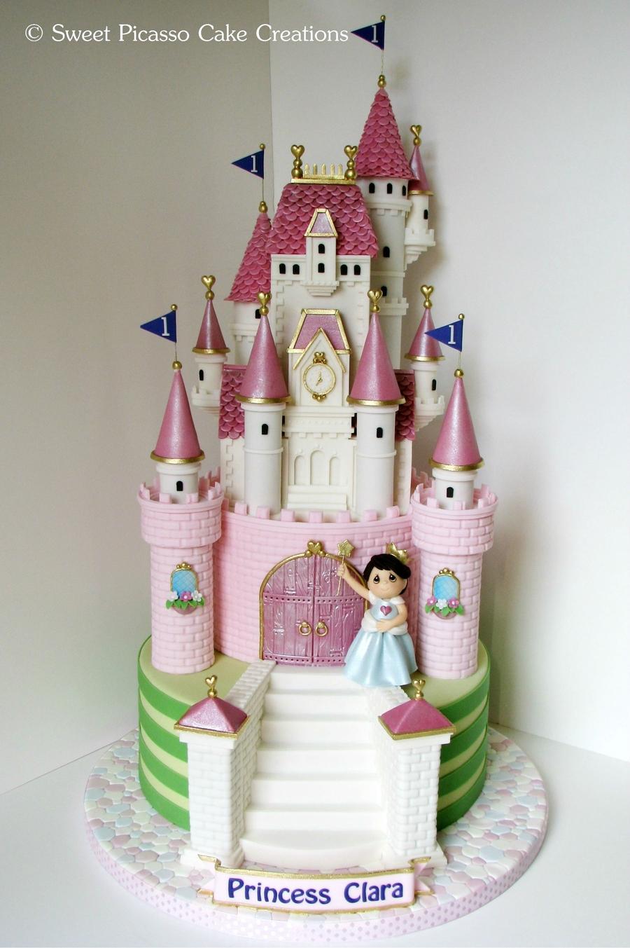 Pictures Of Princess Castle Cake : Princess Pink Castle Cake - CakeCentral.com
