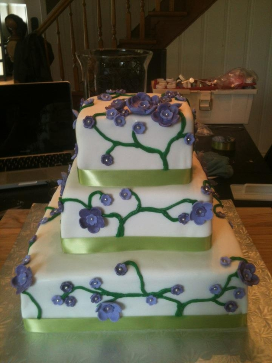 Michelle S L Wedding Cake Cakecentral Com