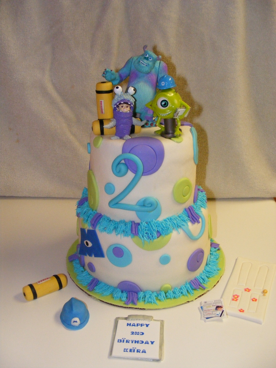 Groovy Monsters Inc Birthday Cake Cakecentral Com Personalised Birthday Cards Veneteletsinfo