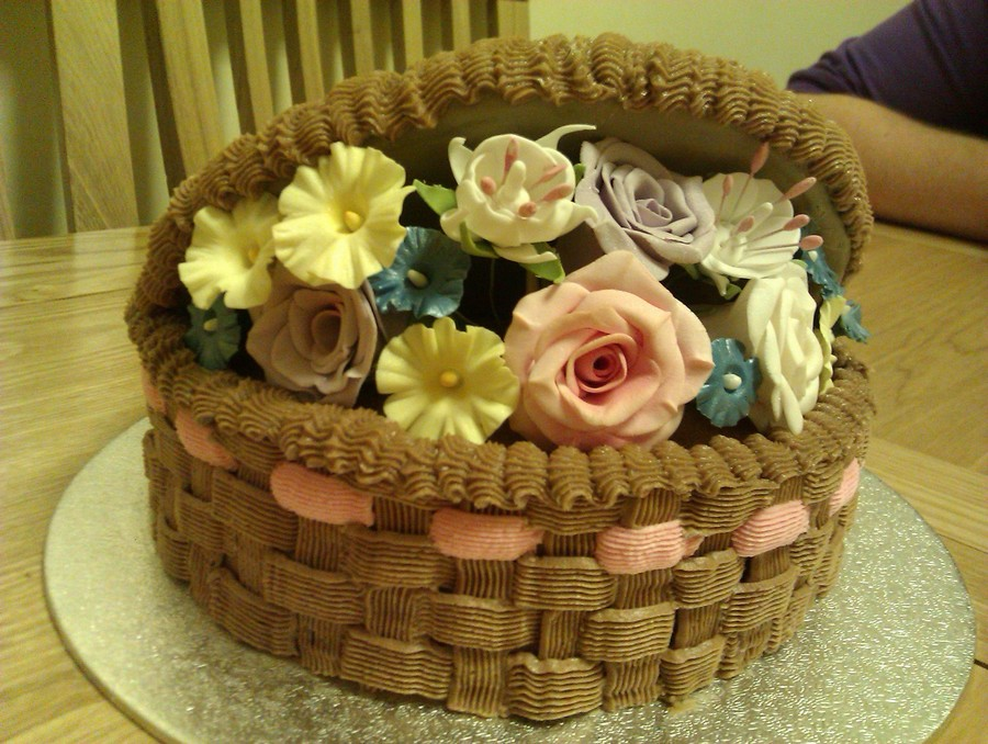 Birthday Cake Images And Flowers ~ Flower basket birthday cake cakecentral