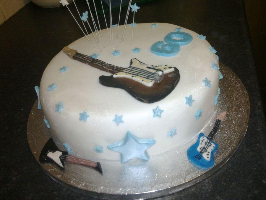 Guitar Birthday Cake CakeCentralcom