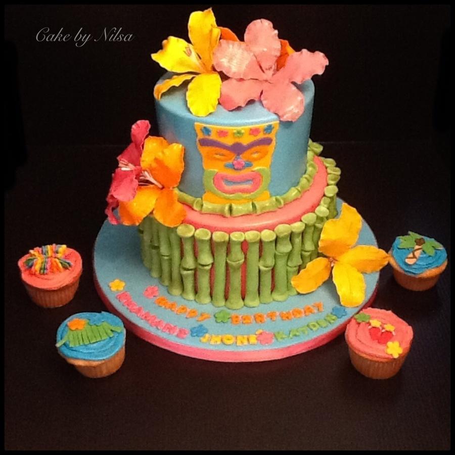 Marvelous Tiki Birthday Cake Cakecentral Com Funny Birthday Cards Online Elaedamsfinfo