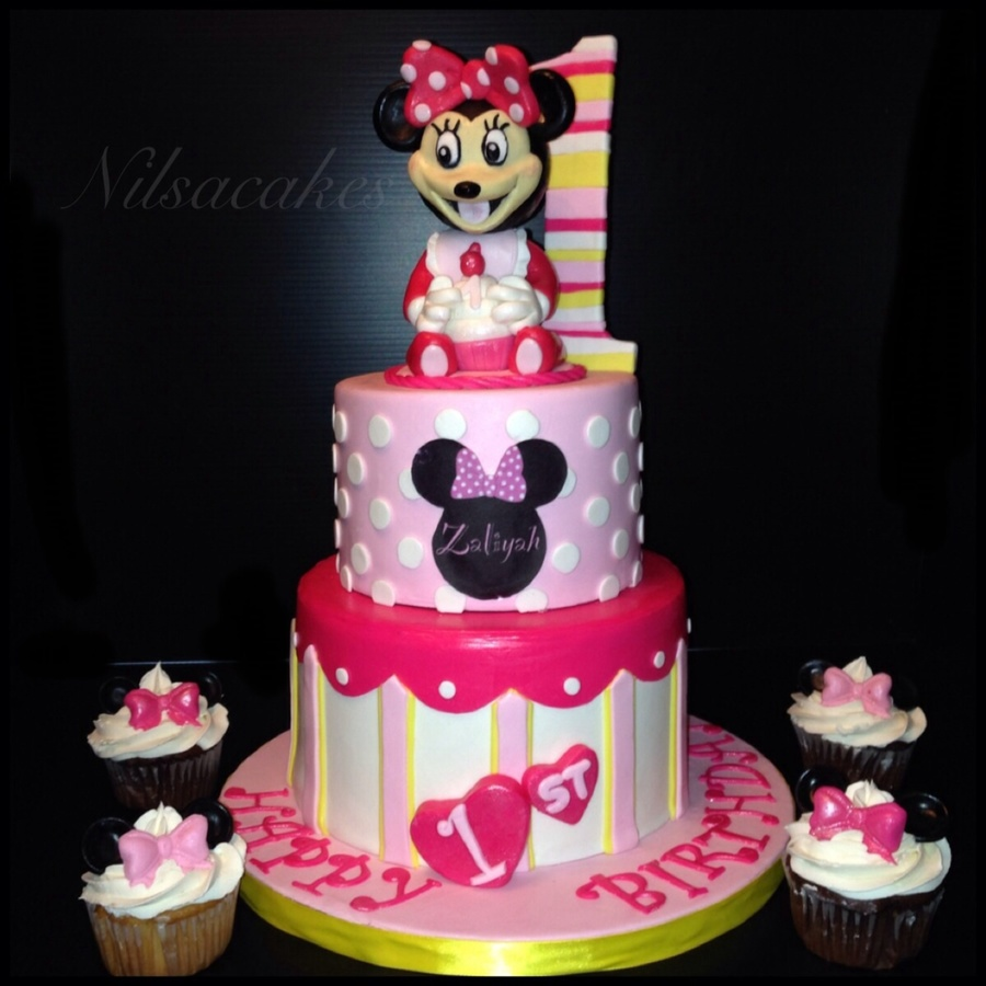 Minnie One Year Old Cake CakeCentralcom