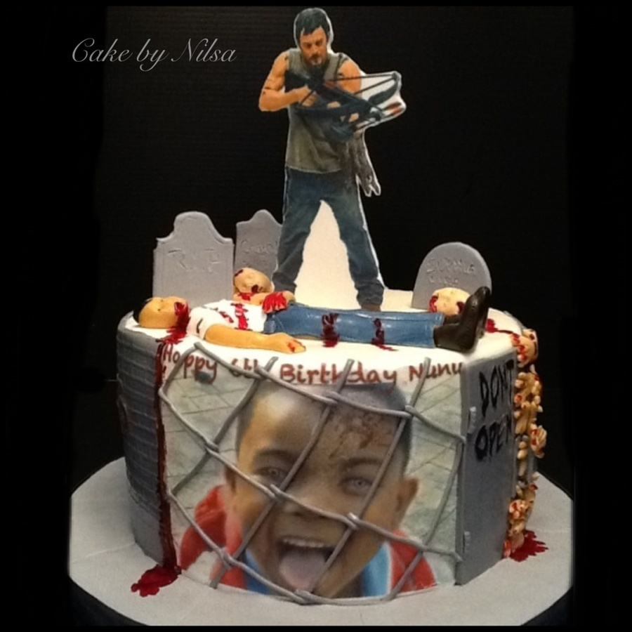 Walking Dead Birthday Cake For My Nephew Cakecentral