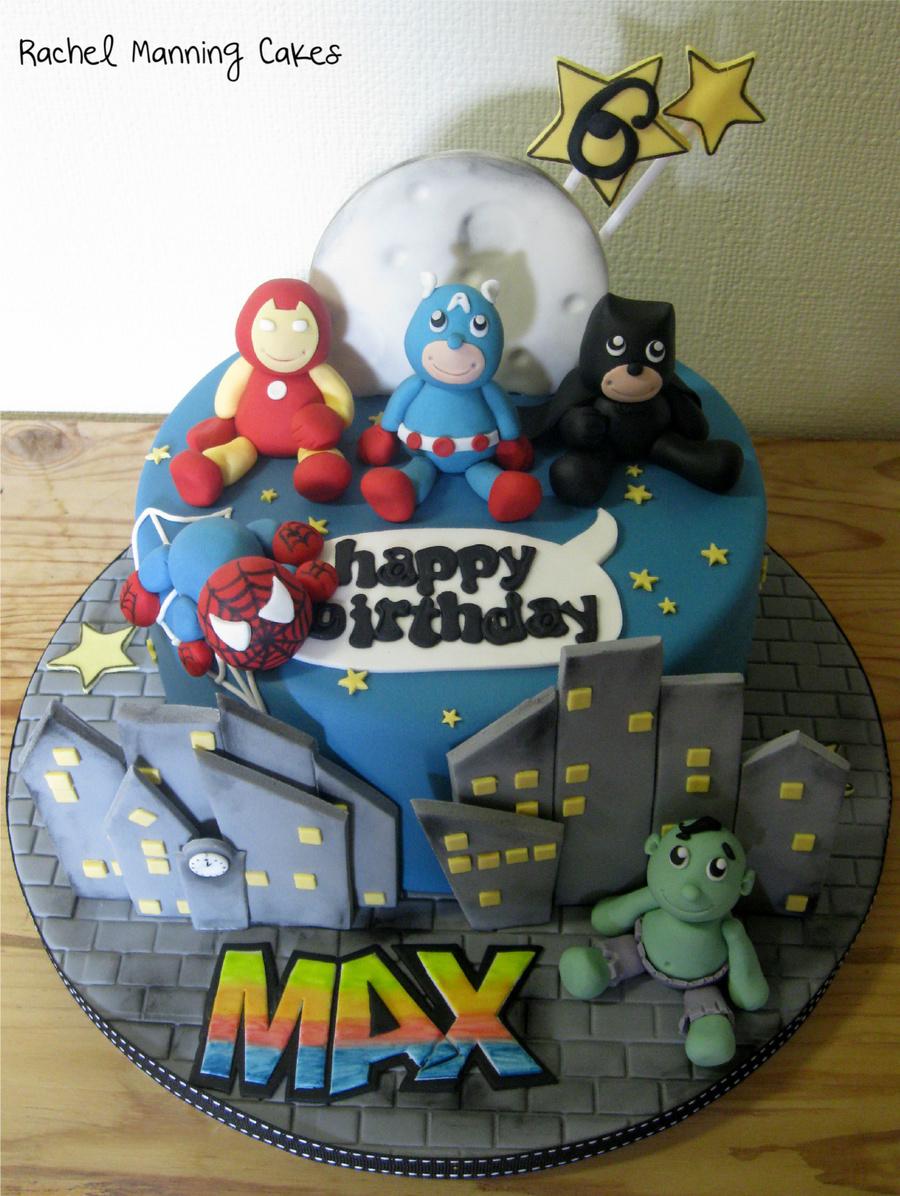 Baby Superheroes Cake Iron Man Batman Captain America Spiderman