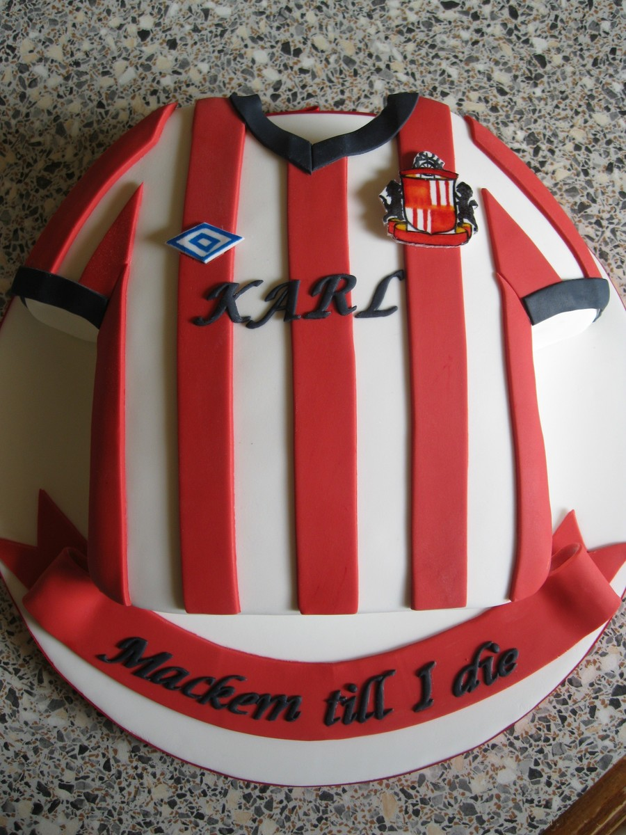 Football Shirt on Cake Central