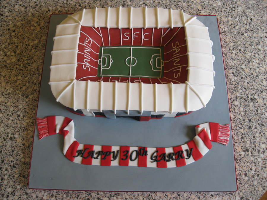 Southampton Football Club, St Mary's Stadium Cake  on Cake Central