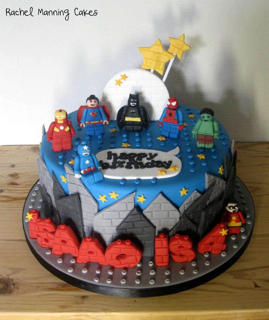 Lego Superhereos Cake Cakecentral Com