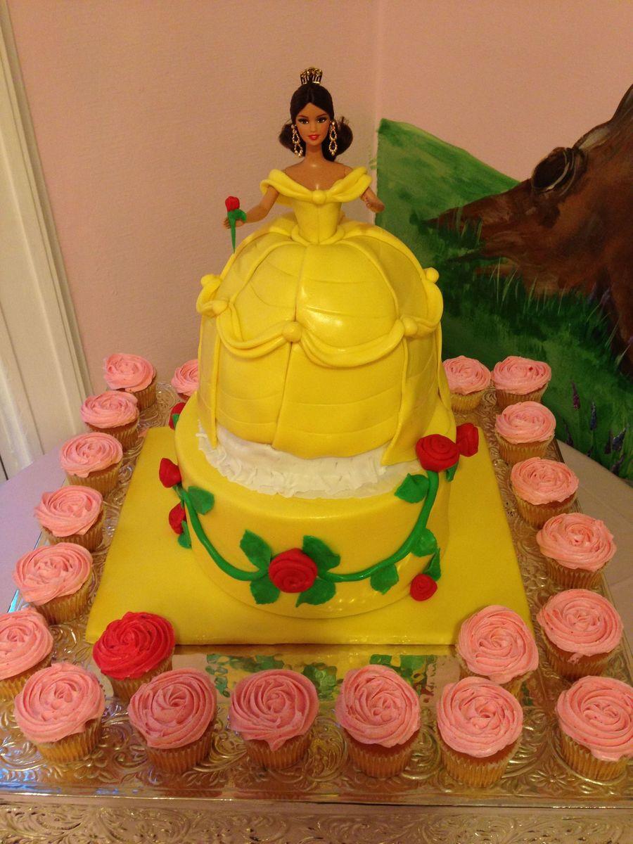 Princess Belle Doll Cake CakeCentralcom