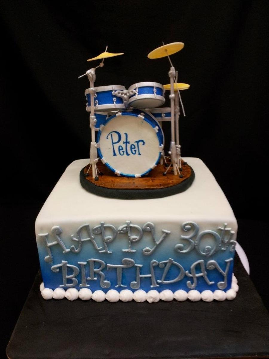 Cake Decorating Drum Kit : Drum Cake - CakeCentral.com