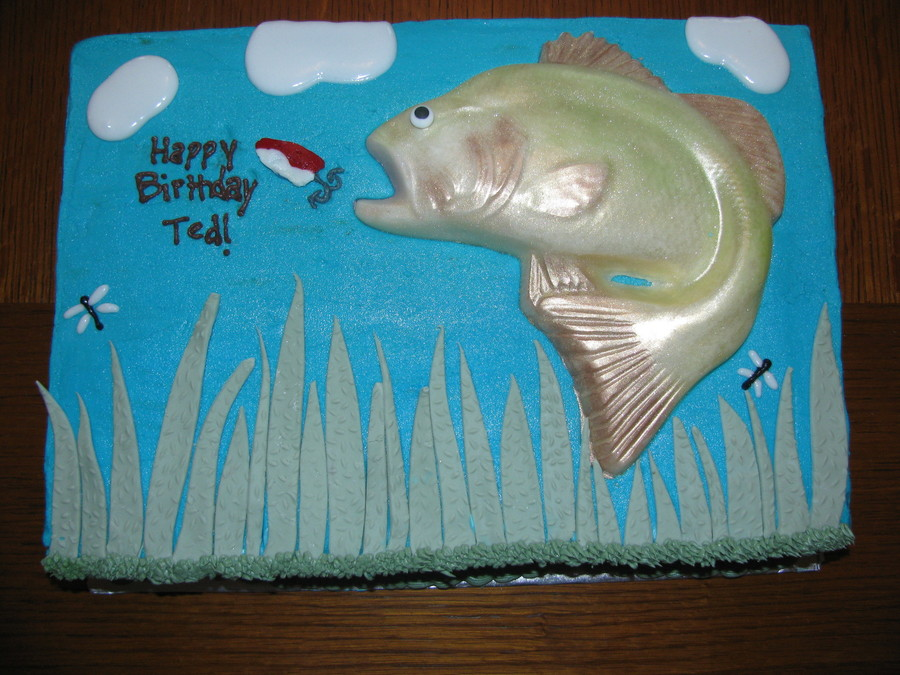 Fantastic Birthday Fish Cake Cakecentral Com Funny Birthday Cards Online Overcheapnameinfo