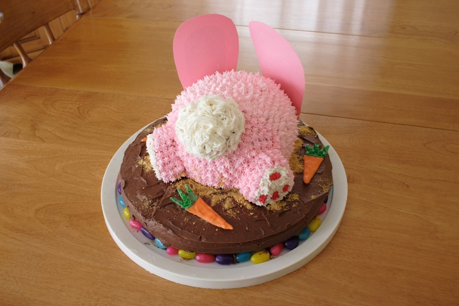 Easter Bunny Butt Cake on Cake Central
