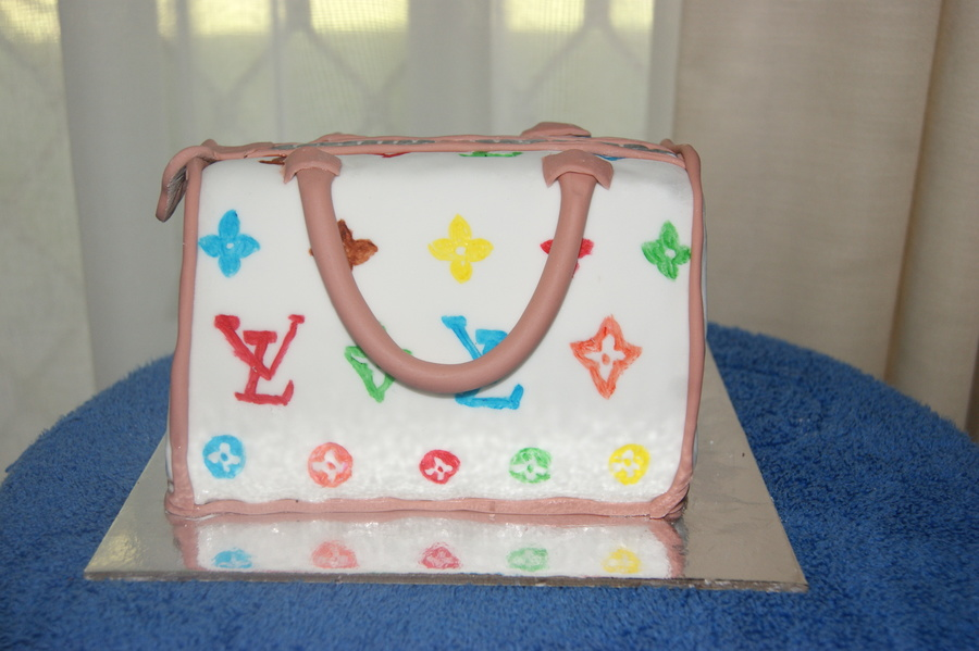 Louis Vuitton Bag Birthday Cake on Cake Central