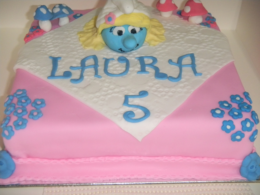 Smurfette Birthday Cake  on Cake Central