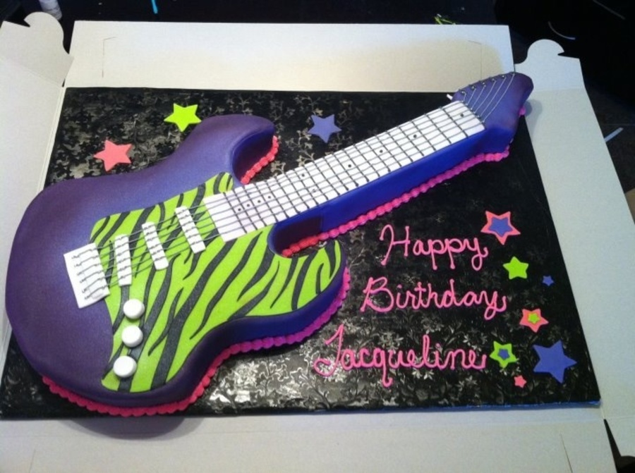 Six String Guitar Cake on Cake Central