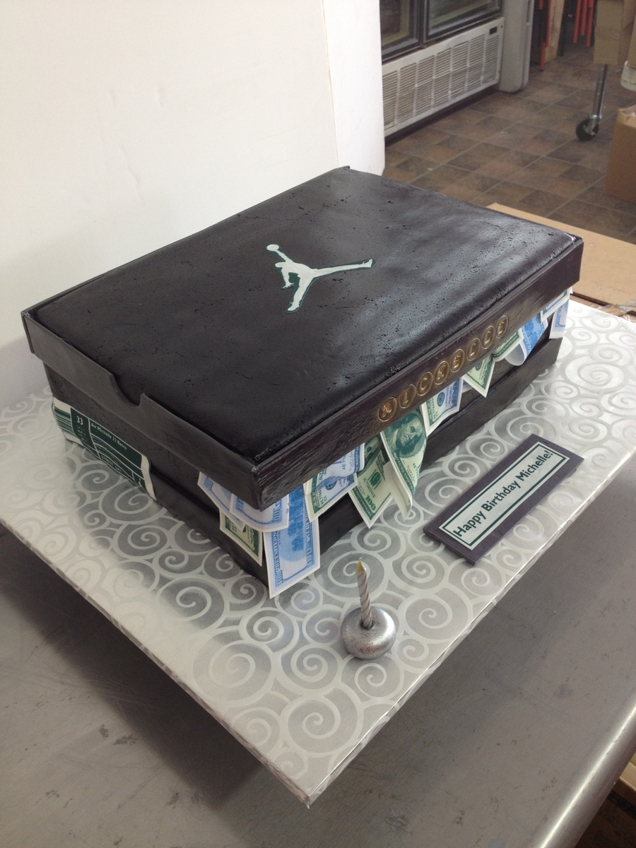 Jordan Shoes Box on Cake Central