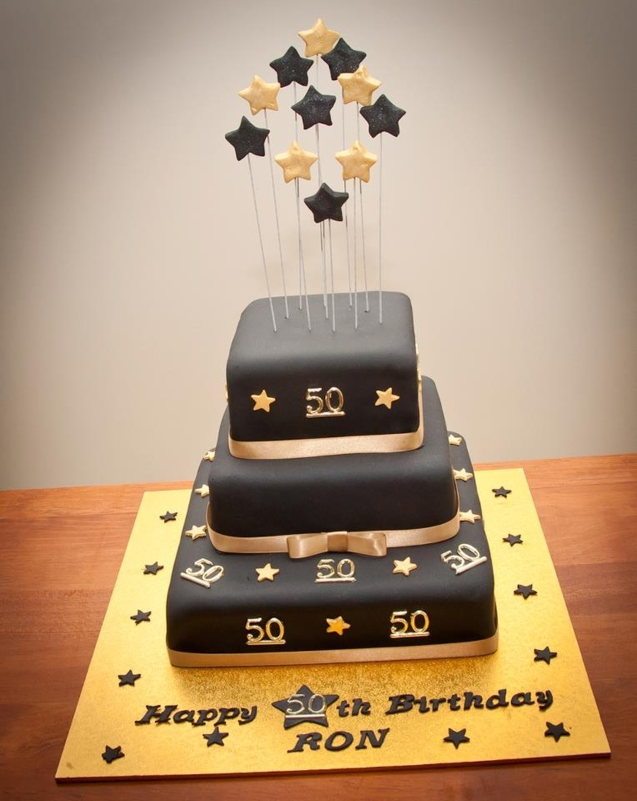 Ron s 50Th Birthday Cake - CakeCentral.com
