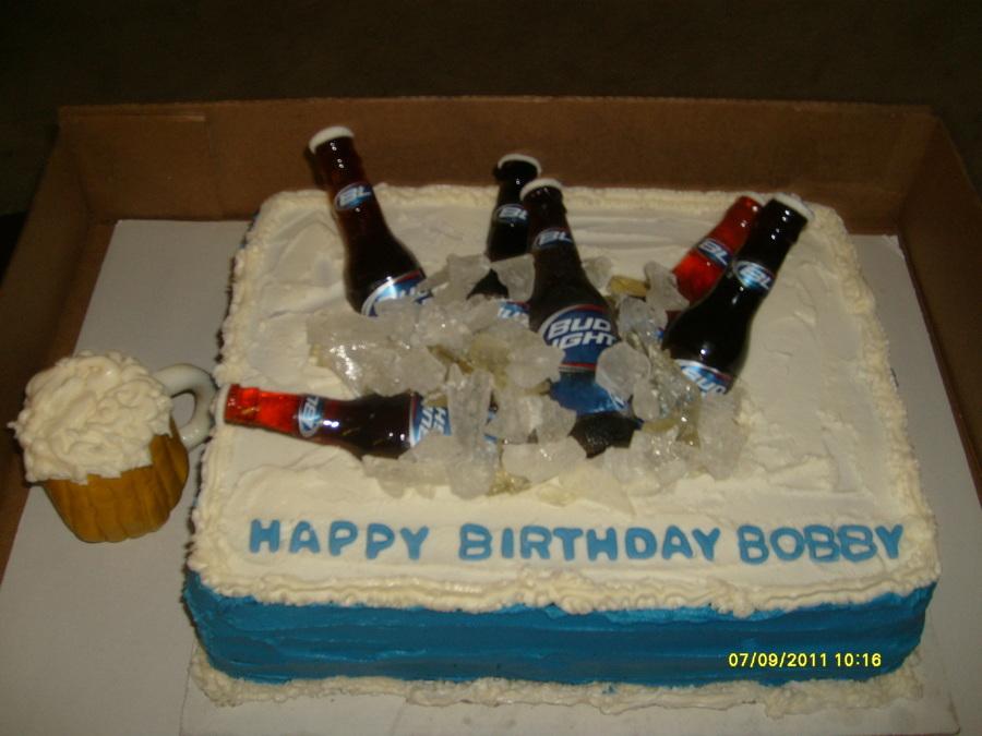 Magnificent Budlight Birthday Cake Cakecentral Com Funny Birthday Cards Online Elaedamsfinfo