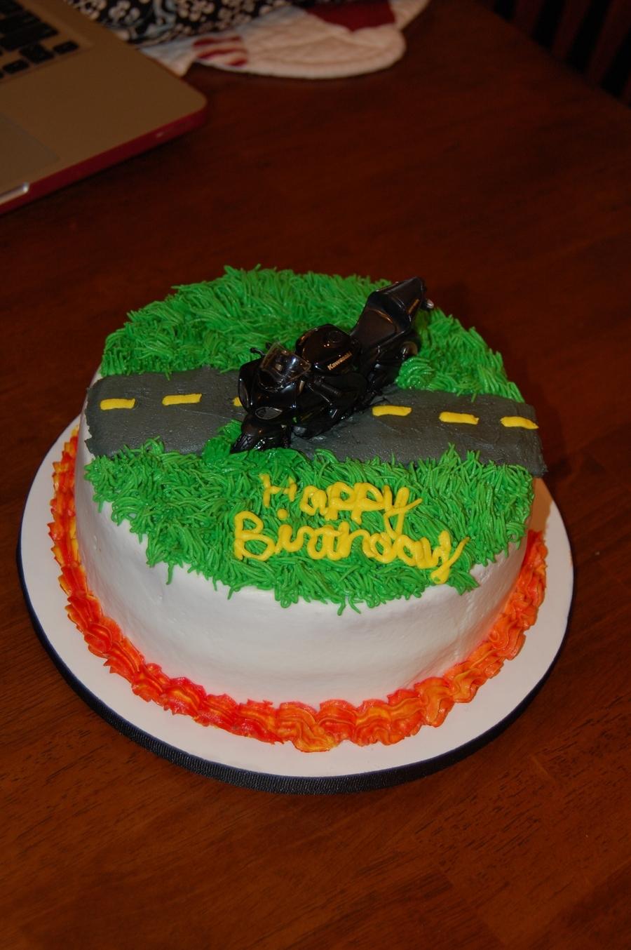 Astounding Motorcycle Birthday Cake Cakecentral Com Funny Birthday Cards Online Alyptdamsfinfo